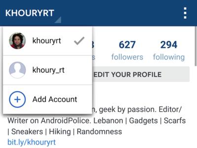 Instagram añade de forma silenciosa (y selecta) soporte multicuenta a su aplicación Android