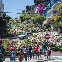 La famosa Lombard Street está tan abarrotada de coches que San Francisco estudia poner un peaje