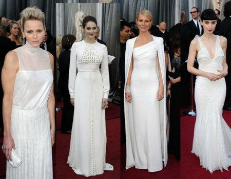 Vestidos blancos Oscar 2012