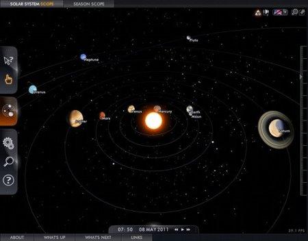 Solar System Scope, simulador 3D del Sistema Solar