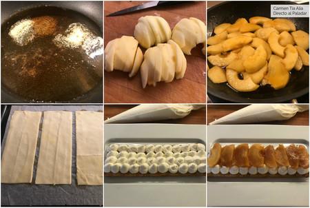 Paso A Paso Hojaldre De Manzana Caramelizada Y Crema De Msacarpone