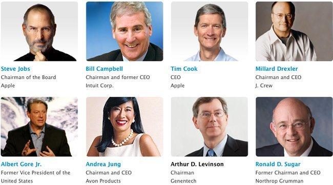 Un vistazo al nuevo consejo de administración de Apple