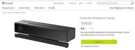 Kinect para Windows v2 ya está disponible en la Microsoft Store