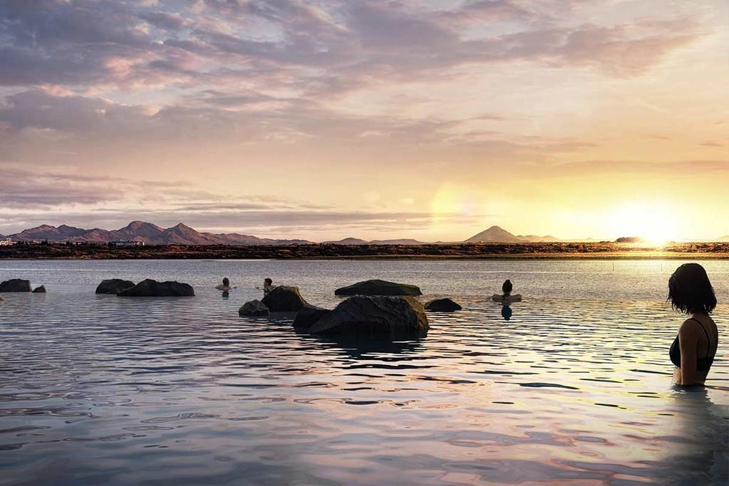 Islandia abrirá una piscina termal infinita (y con bar)