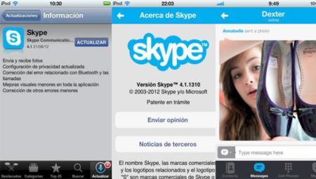 Skype se actualiza en iOS para permitir la subida de imágenes
