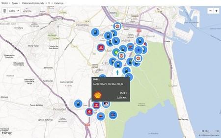 Mapa ggas estaciones cercanas