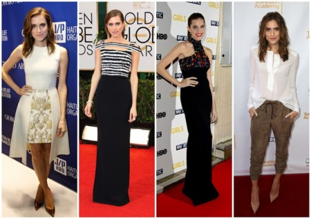 allison williams looks arriesgados