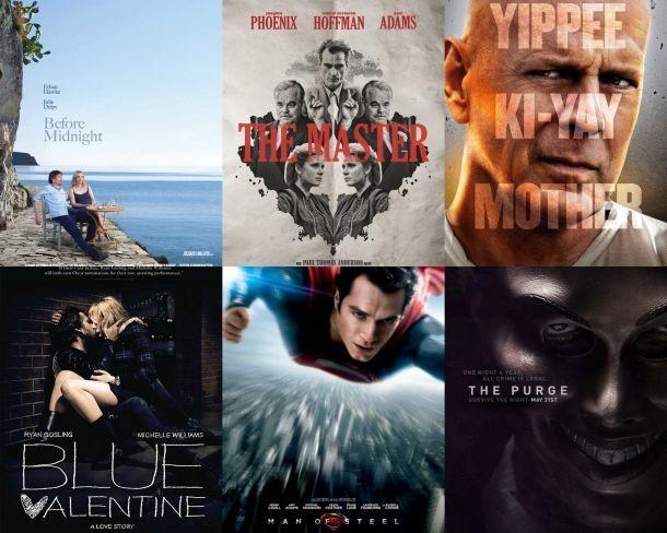 Carteles de algunas de las mejores y las peores películas estrenadas en 2013