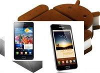 Samsung Galaxy SII y Galaxy Note con Ice Cream Sandwich para finales de marzo