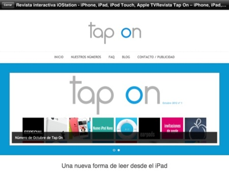 Tap On, llega otra revista interactiva a iOS