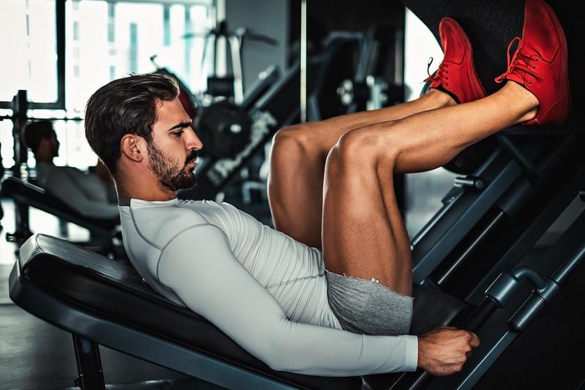 prensa para piernas peso