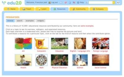 Edu 2.0, comunidad de recursos educativos