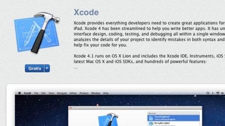 Xcode 4.1 disponible de forma gratuita en la Mac App Store