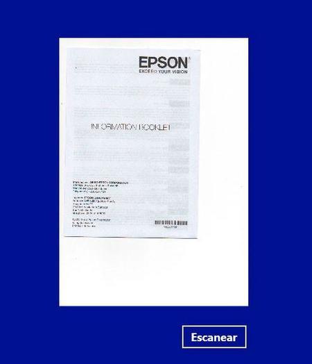 epson escaneado