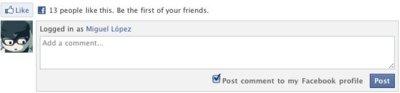 Facebook quiere llevar su sistema de comentarios a todas las páginas web