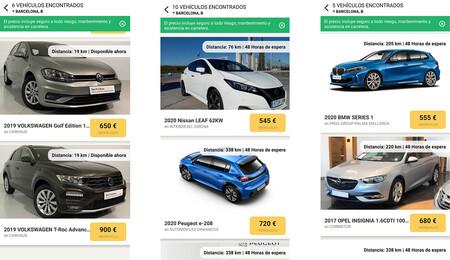 Wabi suscripción coches Santander