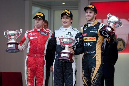 Podio carrera 2 GP3 Mónaco 2012