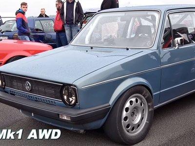 Y esto es un Volkswagen Golf Mk1 de 1.000 caballos alcanzando 308 km/h