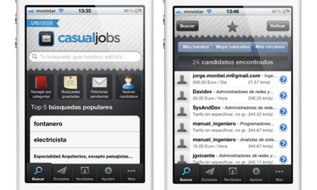 CasualJobs, cómo encontrar trabajo utilizando tu iPhone