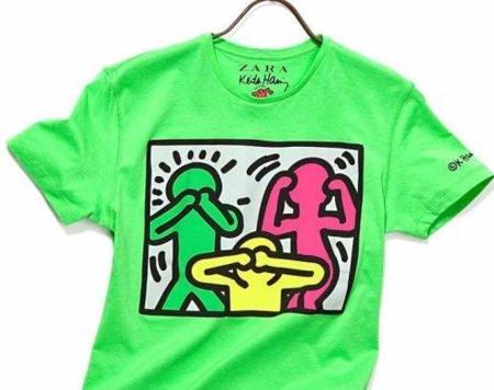 Zara vuelve a confiar en Keith Haring para sus nuevas camisetas. Verde