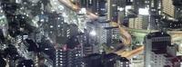 Tokio Metropolitan Expressway por la noche, relájate y disfruta