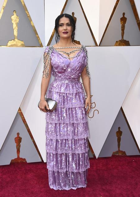 Oscar 2018 Salma Hayek Gucci