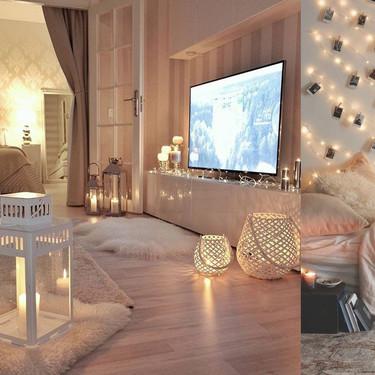17 ideas para decorar la casa con guirnaldas de luces, sin que sea Navidad