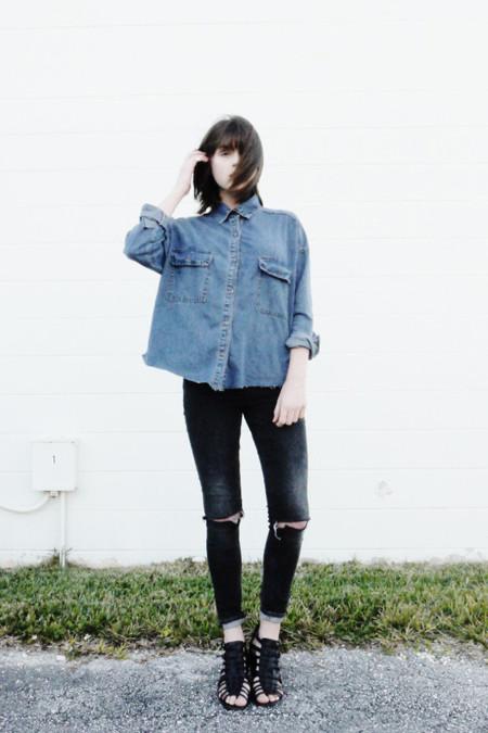 Moderno Camisa vaquera moda