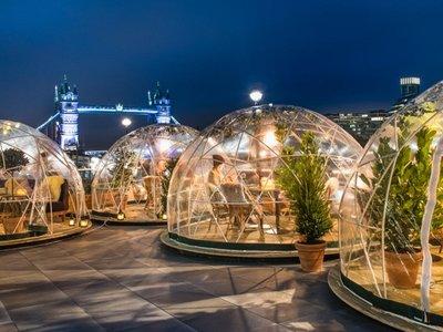 ¿Cenar en un iglú gigante a orillas del Támesis? Sí, en Londres todo es posible