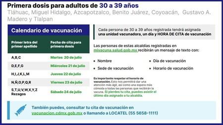 Vacunacion Covid Cdmx 30 39 Anos Sedes
