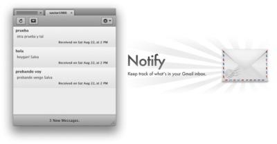Notify, otra aplicación de notificación para vuestras cuentas en Gmail