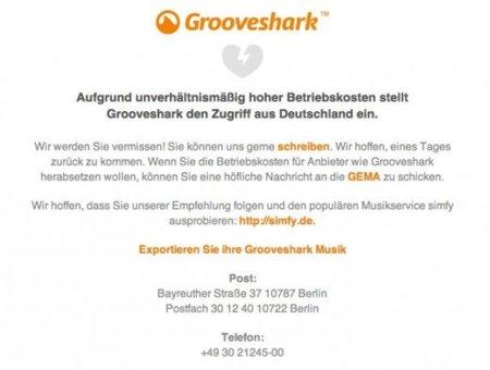 Grooveshark se ve forzado a cerrar en Alemania por presión de las discográficas