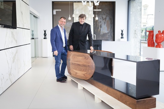 Daniel Germani And Maurizio Riva Madera Meets Dekton Cosentino City Milan Semana Diseno Milan 2017