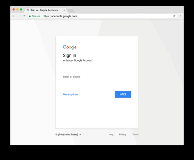 Google New Sign In Screenshot