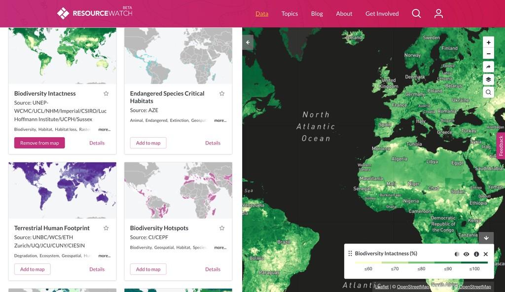 Conoce el planeta a fondo gracias a esta web con más de 200 mapas interactivos