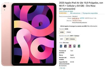 Oferta iPad Air en Amazon