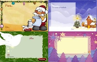 Tarjetas de Navidad para imprimir de Correo Mágico