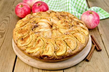 Bizcocho de manzana fitness rico en proteínas
