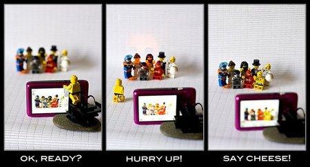Foto de grupo con LEGO