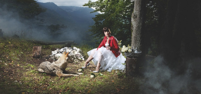 La Caperucita y el lobo de Larusee