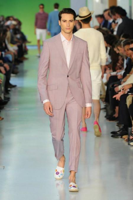 Richard James pink suit SS2014