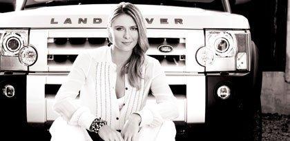 Maria Sharapova y Land Rover
