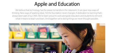 Apple rediseña su web dedicada a educación de cara al lanzamiento de iOS 7