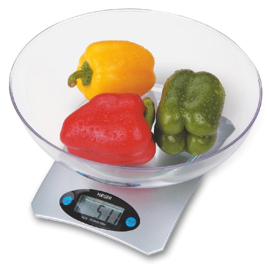 Báscula de cocina digital HAEGER SANTINI - con bol de 5kg