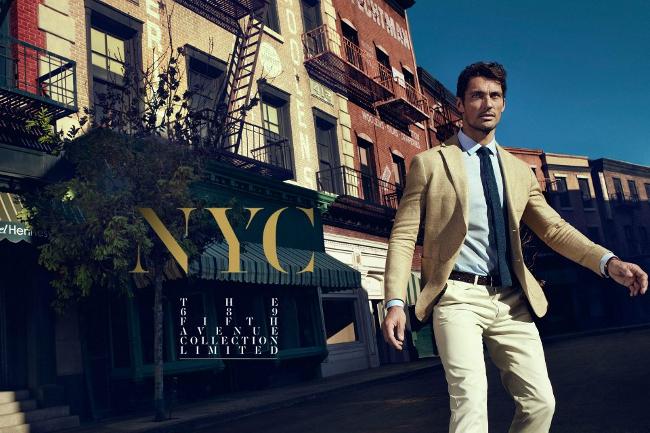 David Gandy NYC Massimo Dutti