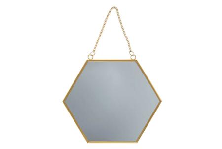 Sass Belle Touch Of Gold Hexagon Mirror Importacion Inglesa
