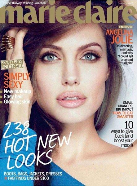 ¿Angelina guapérrima en Marie Claire? No, lo siguiente