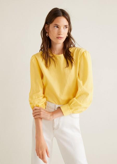 Blusa En Color Amarillo