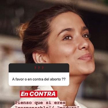 El problema de que María Pombo esté en contra del aborto es que juzga a quiénes no lo están