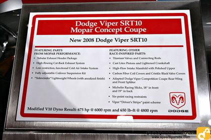 Dodge Viper SRT10 Mopar Concept Coupe